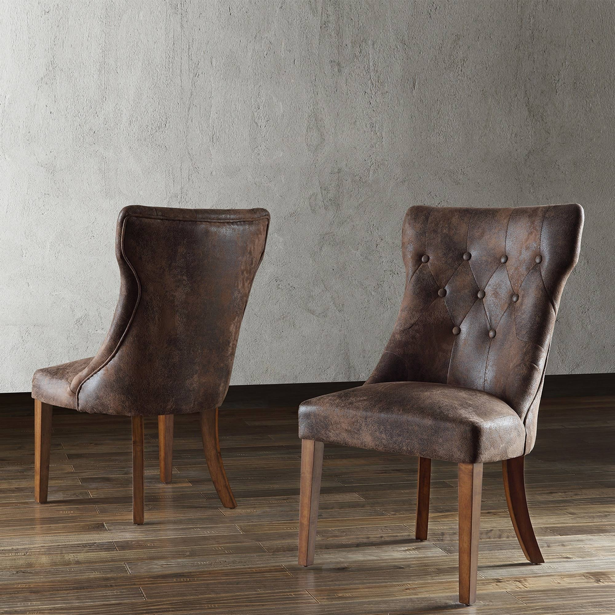 Braxton Faux Leather Dining Chair (Set Of 2)