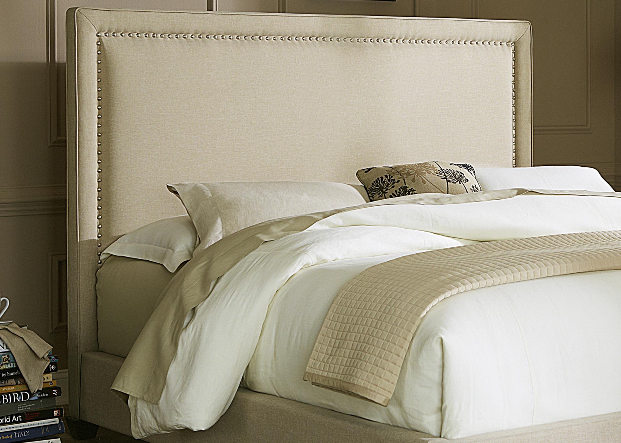 Natural Linen Panel Upholstered Bed