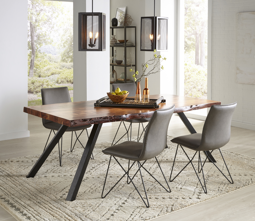 Dakota Live Edge Dining Table Industrial Wood Dining