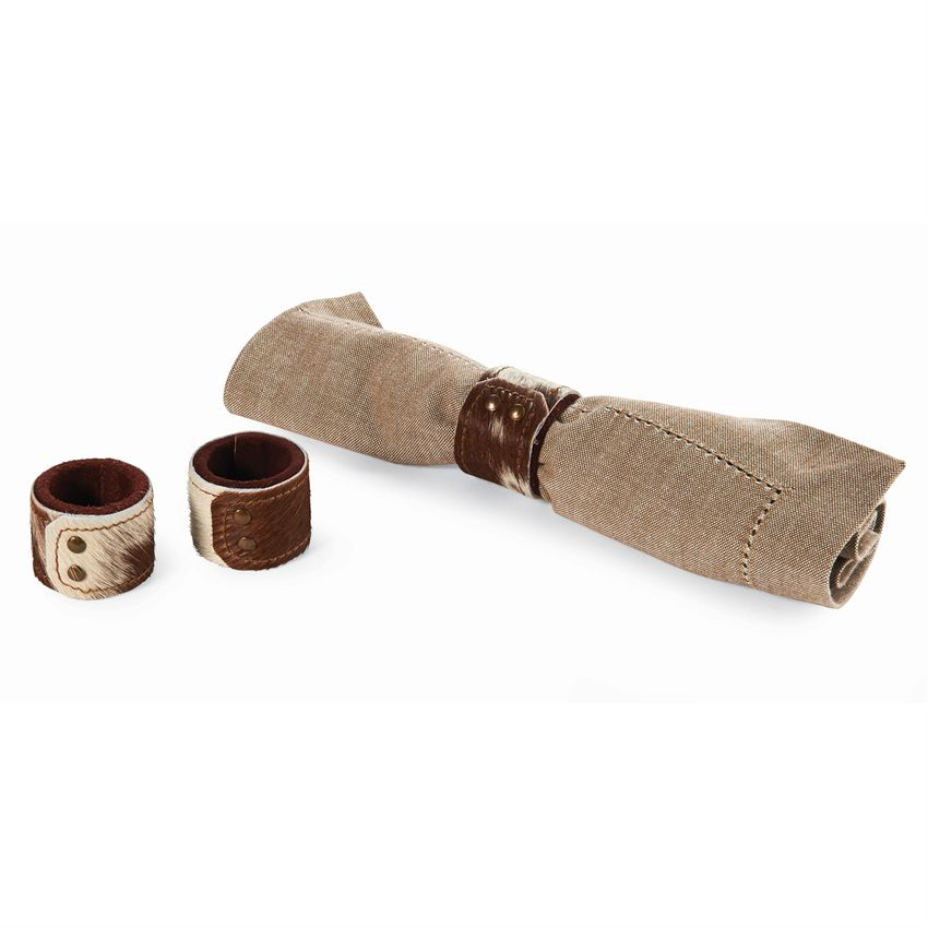 Cowhide Napkin Ring