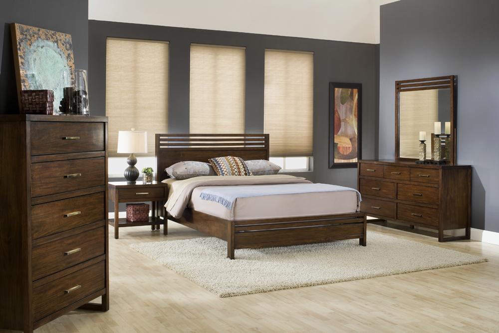 Metro Contemporary Bedroom Collection Wood Bedroom Set