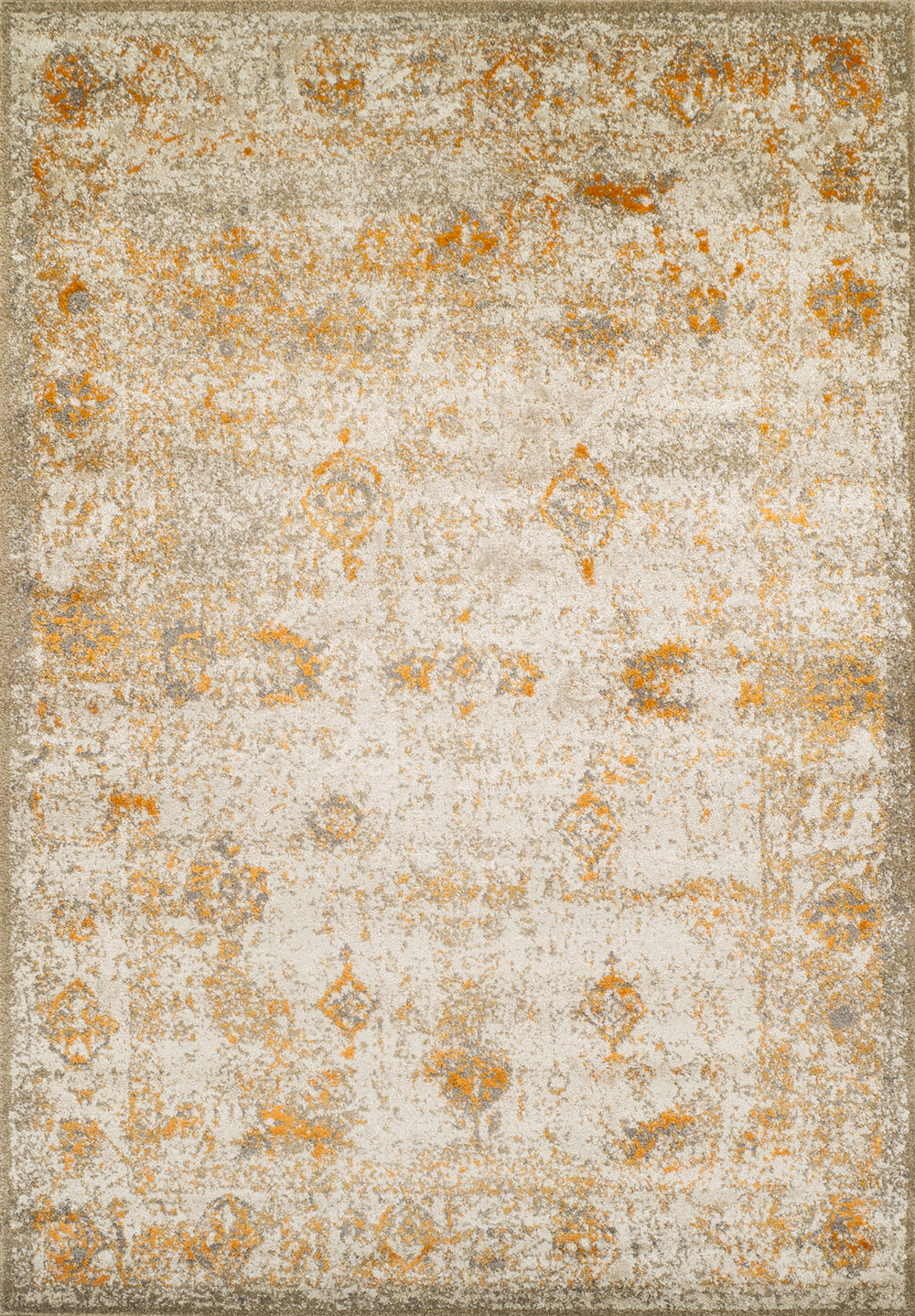 Antiquity Tangerine Art Silk Amp Polypropylene Rug Soft