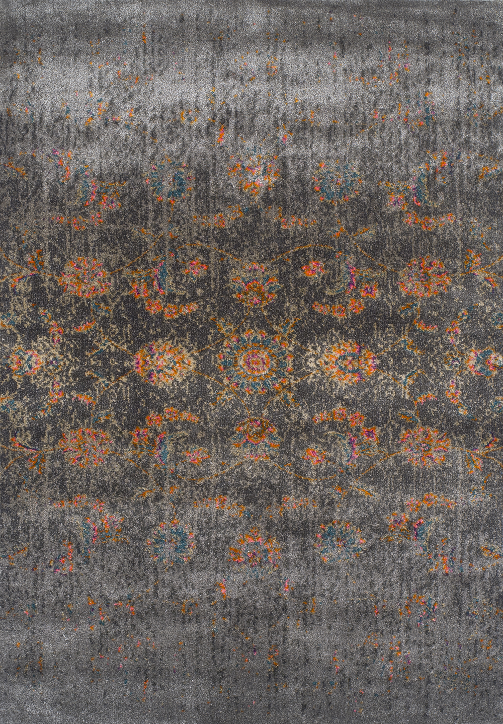 Antiquity Charcoal Art Silk Amp Polypropylene Rug Soft