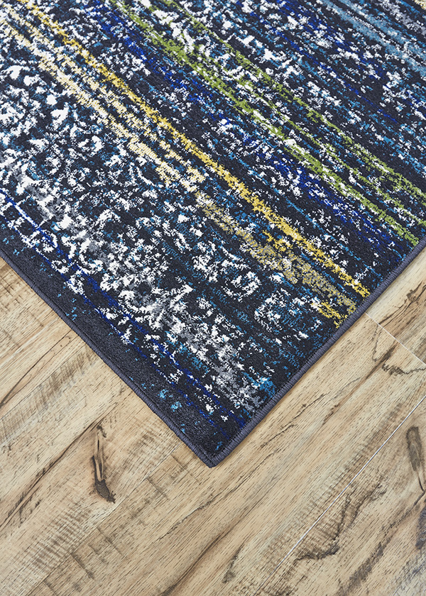 Brixton Midnight Blue Polypropylene Rug