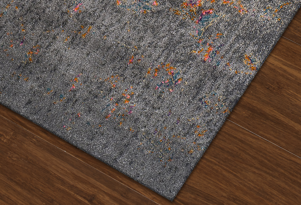 Antiquity Charcoal Art Silk U0026 Polypropylene Rug