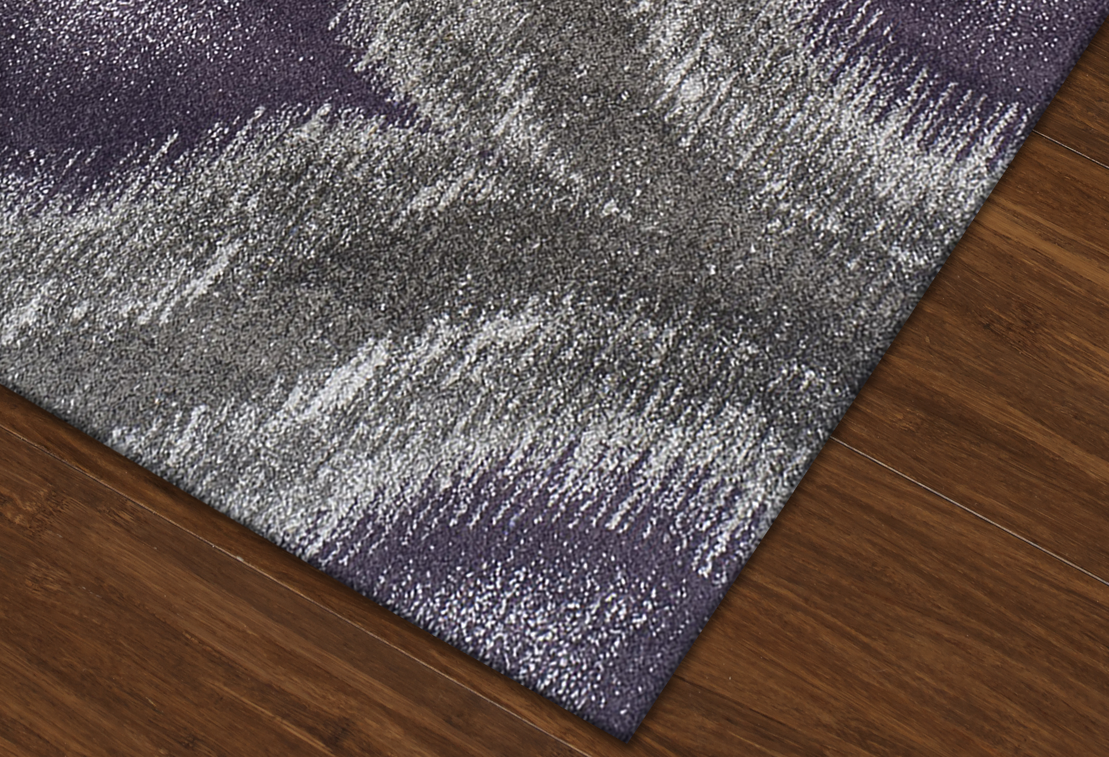 Modern Grey Plum Premium Polypropylene Rug Soft And