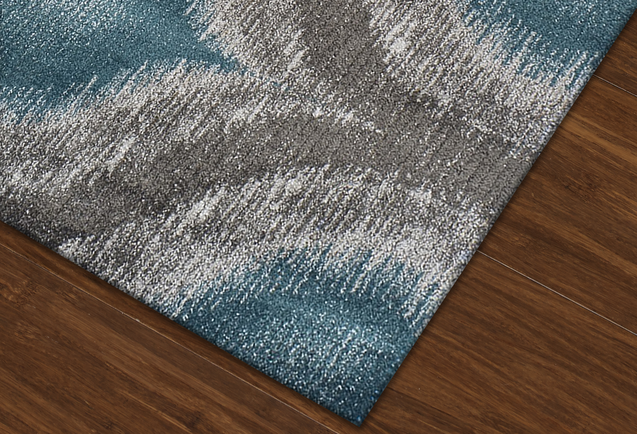 Modern Grey Teal Premium Polypropylene Rug Soft and  : CloseupMG4441TEAL from www.abodeandcompany.com size 2233 x 1524 jpeg 2357kB