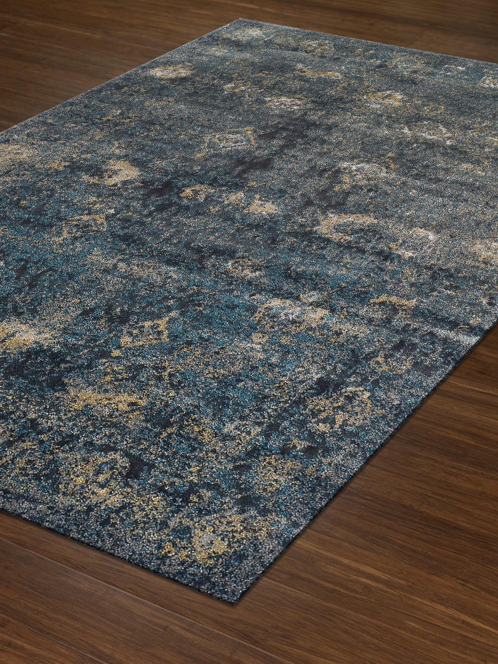 Antiquity Navy Art Silk Amp Polypropylene Rug Soft