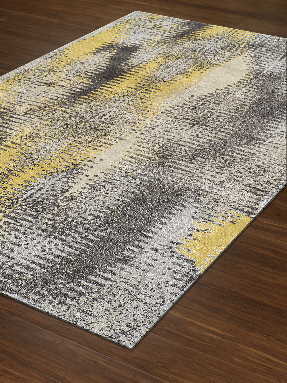 Perfect Modern Grey Graphite, Premium Polypropylene Rug