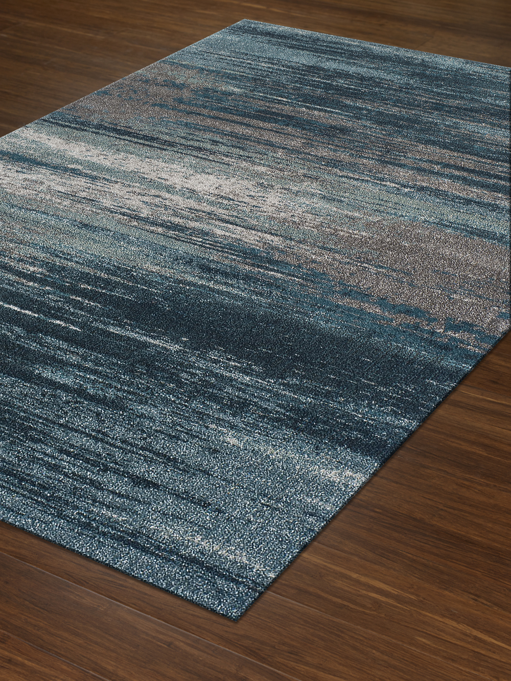 Modern Teal Premium Polypropylene Rug Soft And