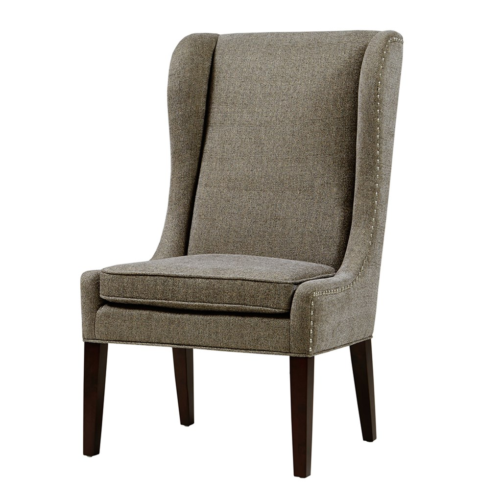 Harlow Captains Dining Chair Grey Upholstered Wood