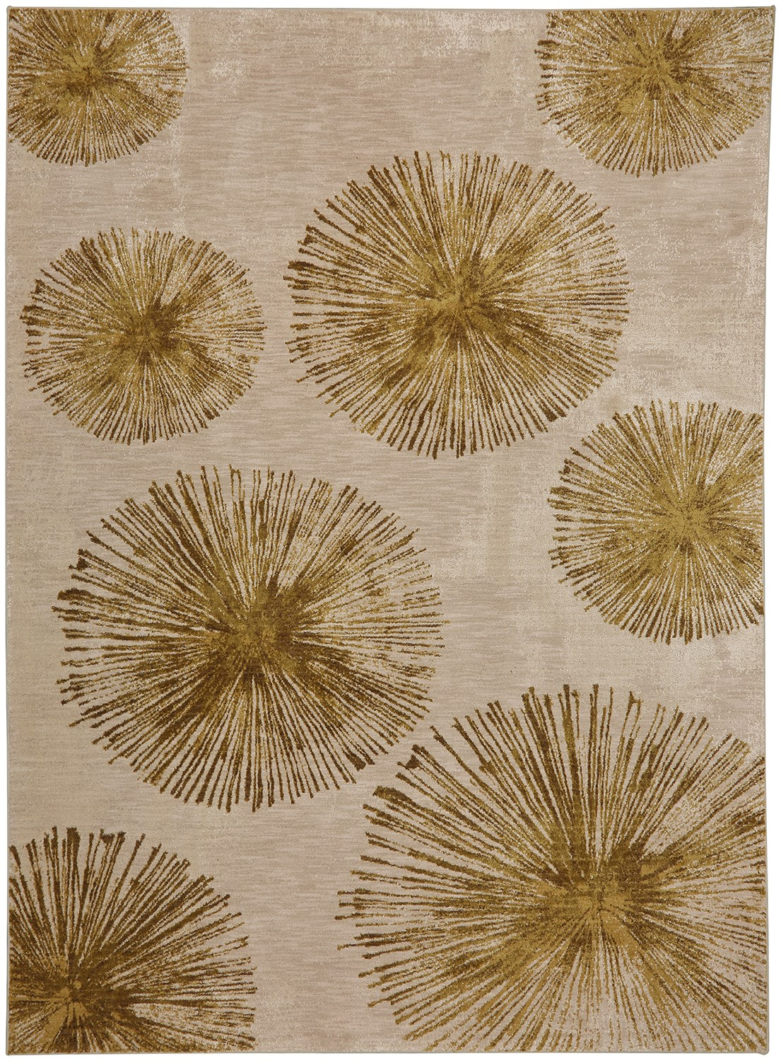 Haight Brushed Gold Smartstrand Silk 8 X 11 Area Rug