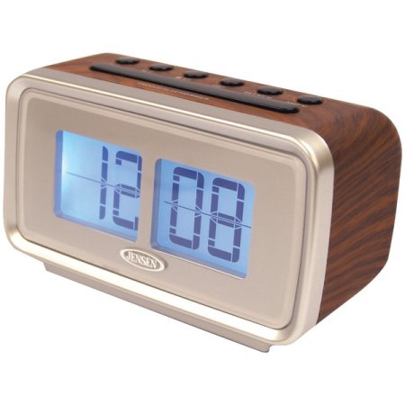 jensen flip display digital radio alarm clock. Black Bedroom Furniture Sets. Home Design Ideas