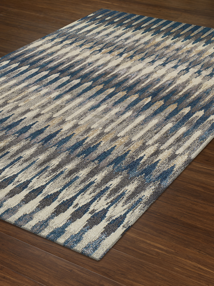 Lavita Teal Polypropelene Yarn Woven Rugs Transitional