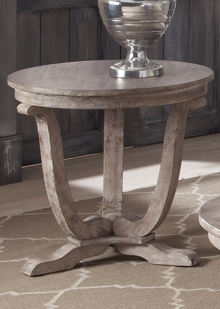 Greystone Wood Oval Coffee Table
