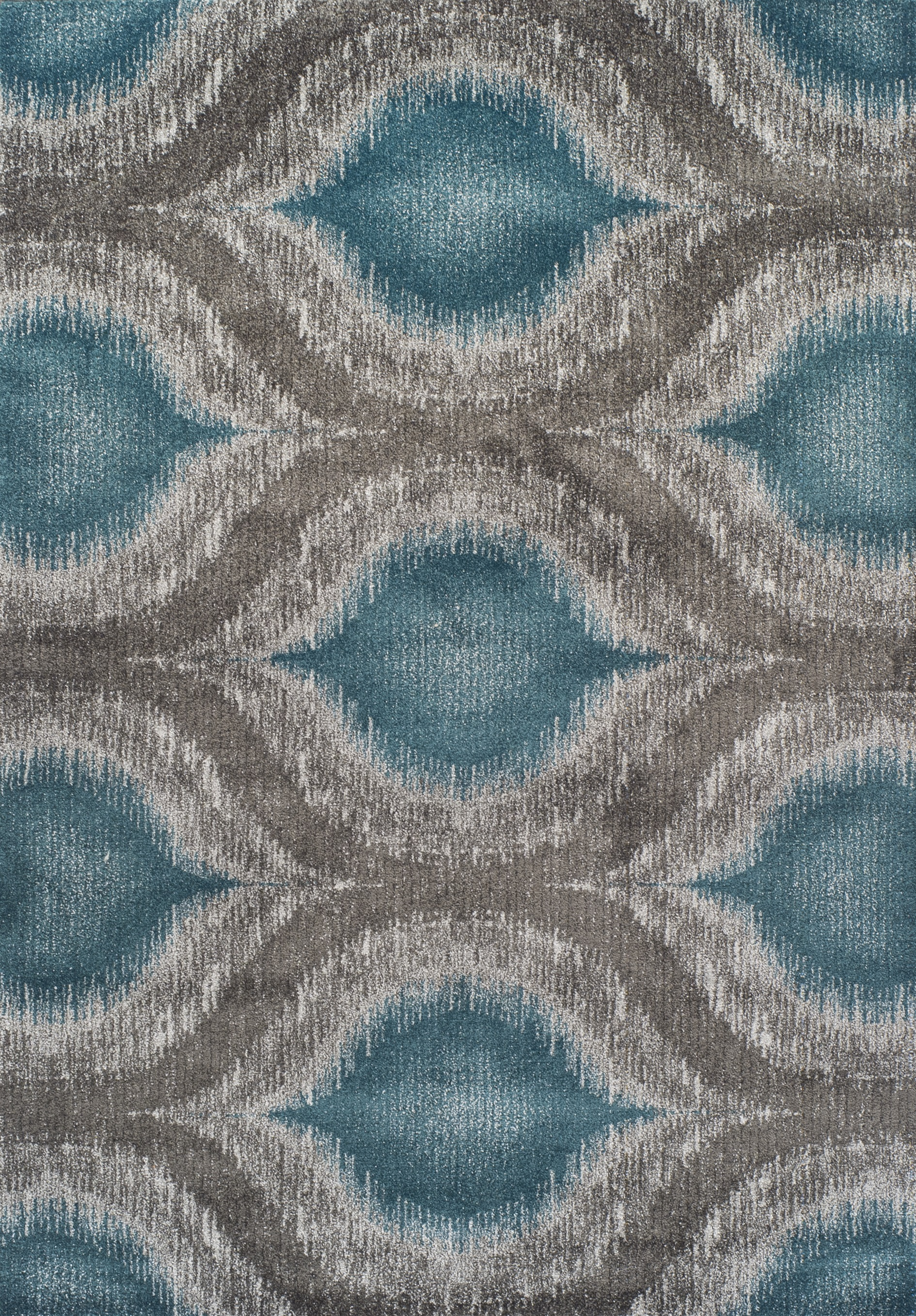 Modern Grey Teal Premium Polypropylene Rug Soft And