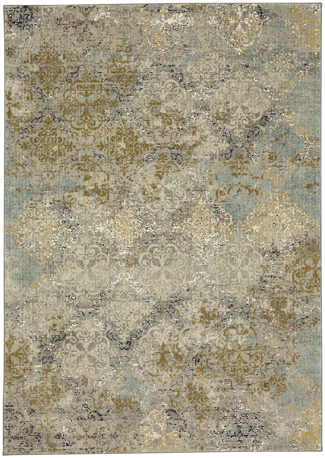 Moy Willow Gray Smartstrand Silk 8 X 11 Area Rug