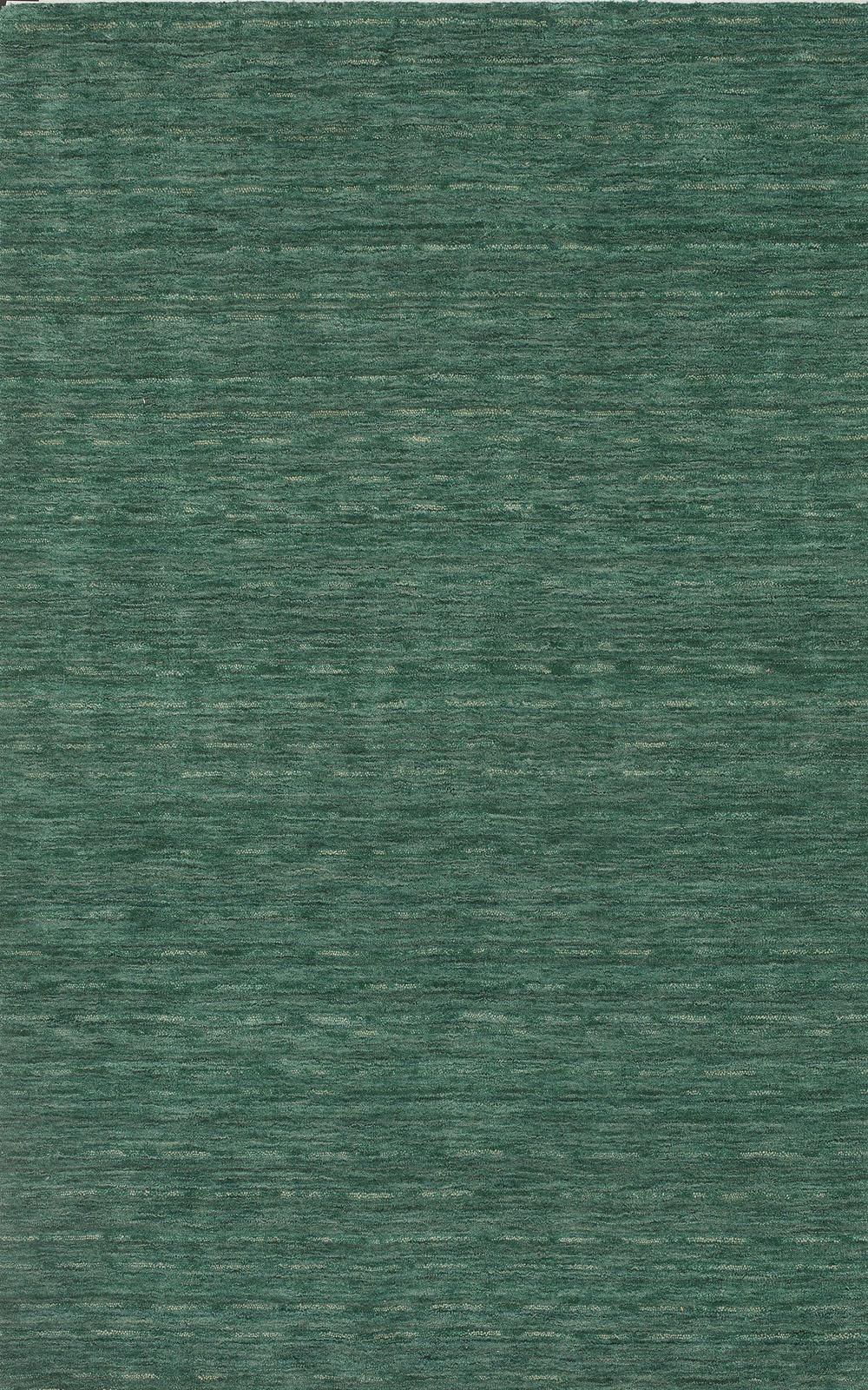 Rafia Emerald Dyed Wool Pile Rug Textured Plush