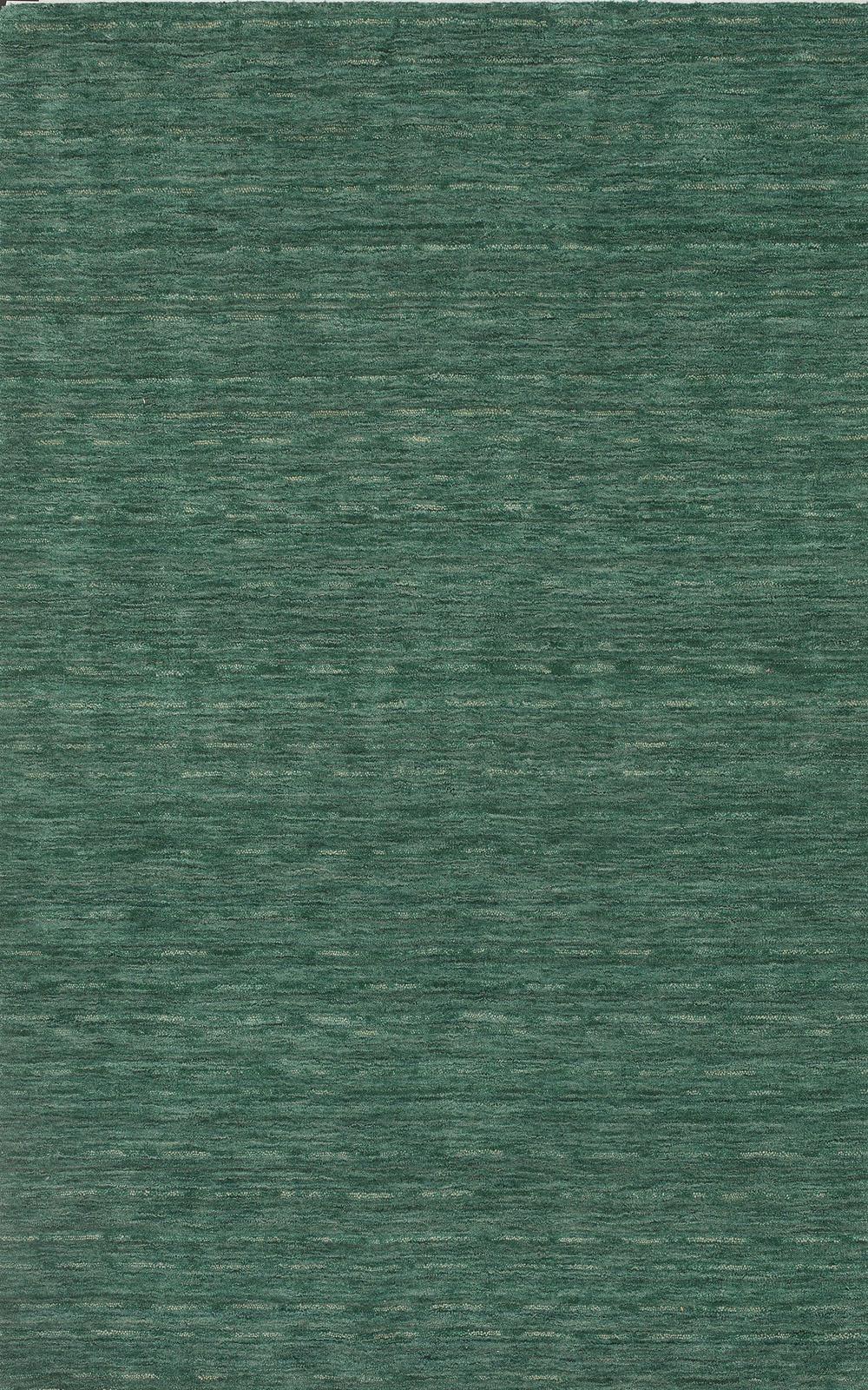 Rafia Emerald Dyed Wool Pile Rug Textured Plush