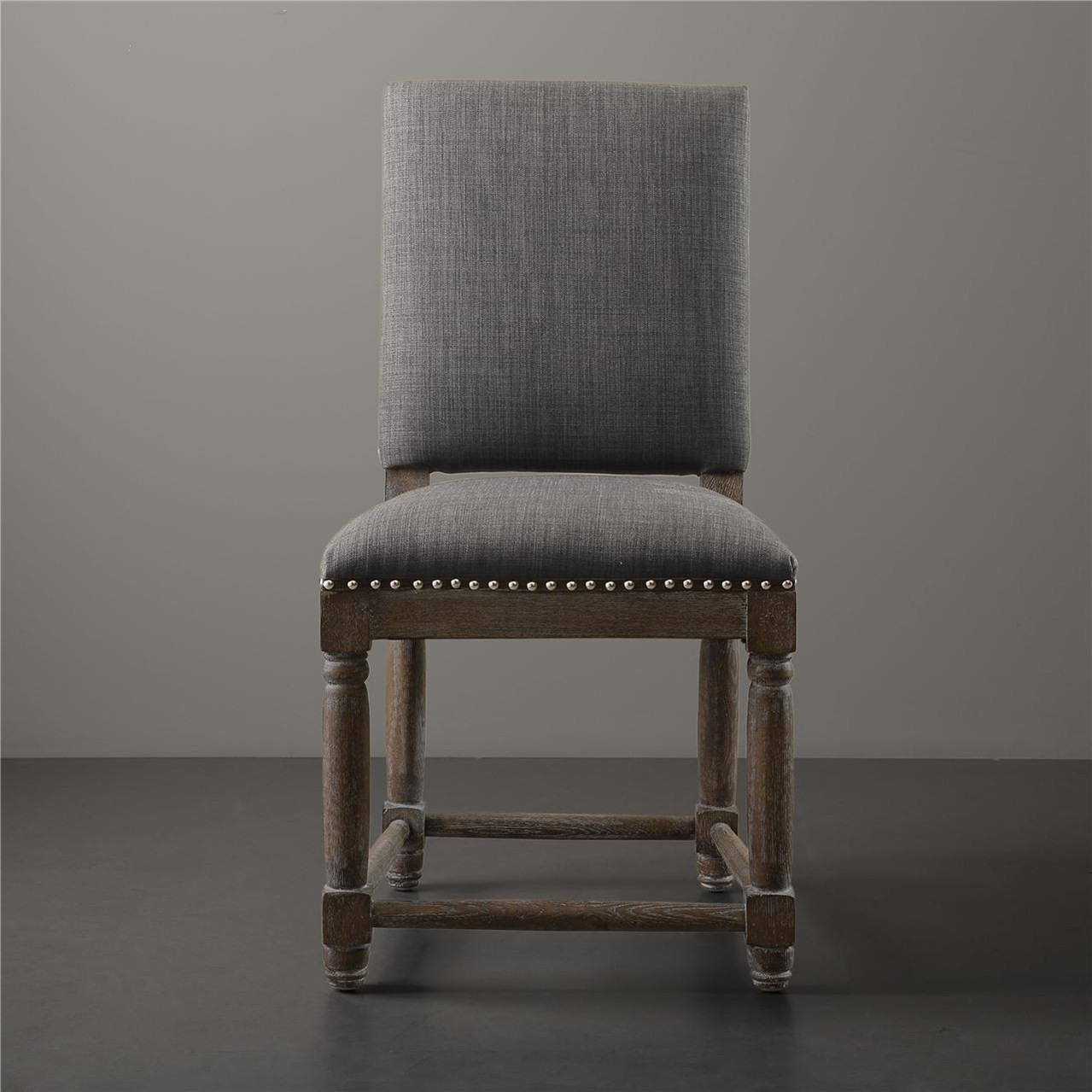 Seville Dining Chair Set Of Two Grey Upholstered