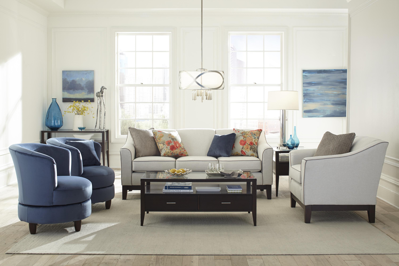 Palmona Blue Velvet Swivel Accent Chair Swivel Chairs