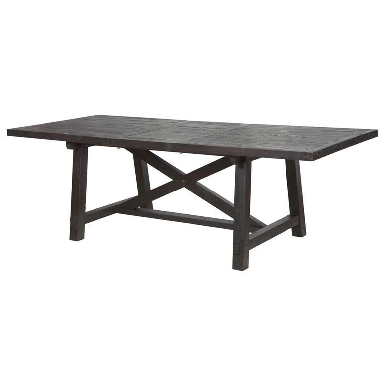 Sheridan Extension Pine Dining Table Wood Metal Dining Tables