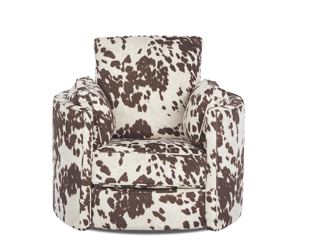 Udder Maddness Cow Reclining Swivel Accent Chair