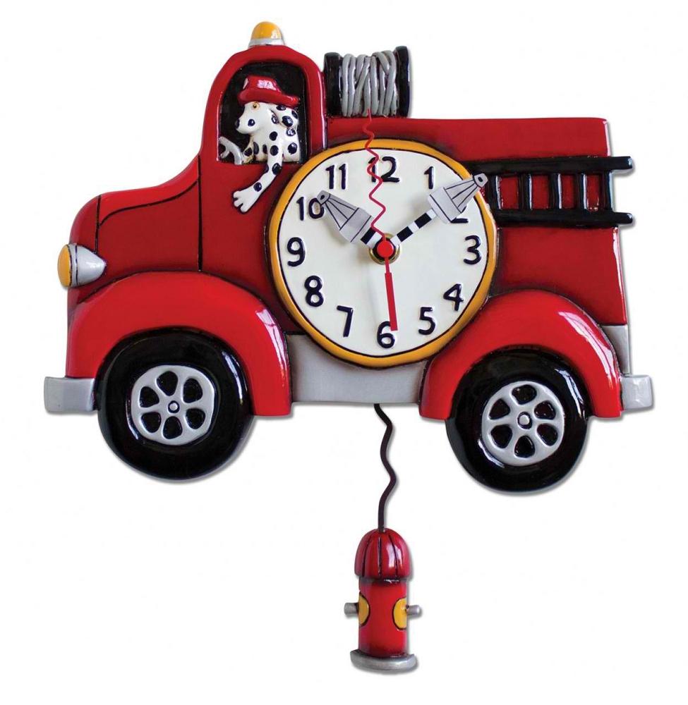 Big Red Fire Truck Pendulum Wall Clock by Allen Designs : big20red 2 from www.abodeandcompany.com size 975 x 1000 jpeg 330kB