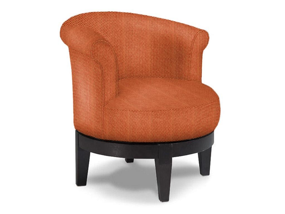 Addison Round Swivel Chair Low Profile Fun Accent Chairs