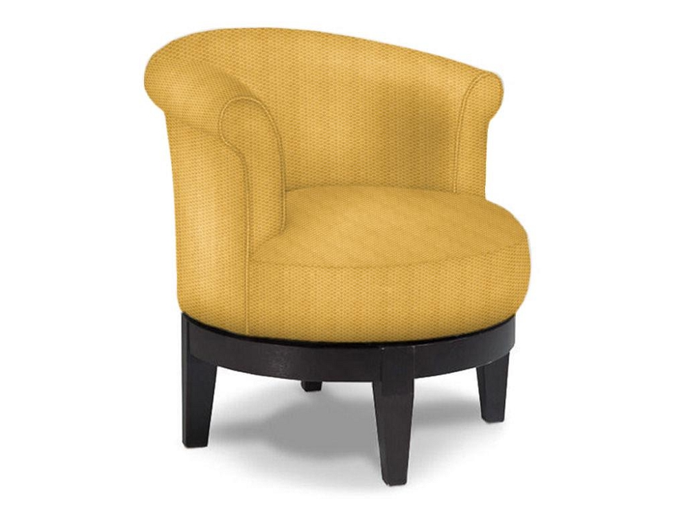 Addison round swivel chair low profile fun accent chairs for Best furniture company