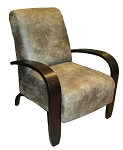 Aspen Nubuck Faux Leather Accent Chair
