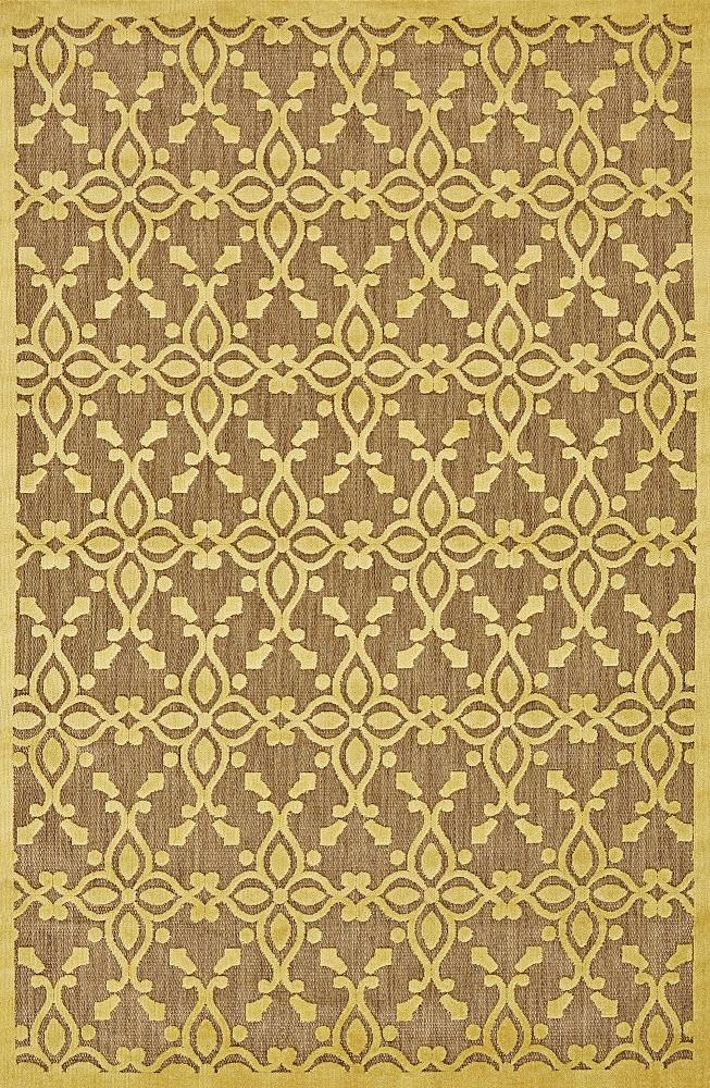 Raphia II Yellow & Tan Indoor Outdoor Rug