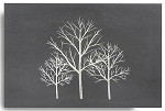 Graphite Silver Tree Placemat Set/4