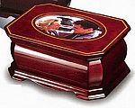 Solid Wood Jewelry Box with Single Picture Top