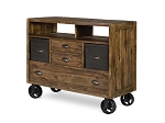Braxton Antique Brown Wood Media Chest