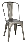 Stovall Industrial Gun Metal Dining Chair (Set of 4)