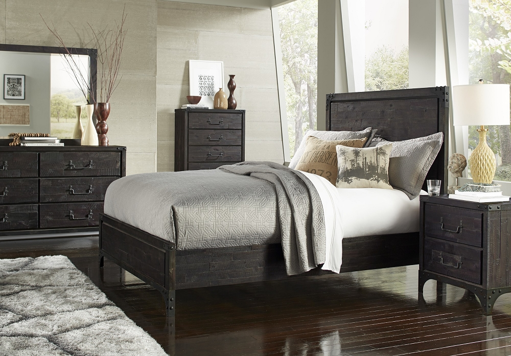 l bed black wood modern lexington set cosmos piece platform shore south htm bedroom