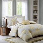 Lola Yellow 3 Piece Comforter Mini Set