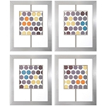 Marquee Lights Framed Wall Art Set of 4