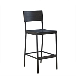 Ebony Wood & Metal Stool