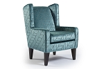 Carmen Modern Teal Wing Accent Chair