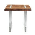 Clear View End Console Table