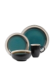 Telluride 16 Piece Square GE Dinnerware Set