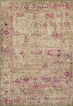 Antiquity Ivory & Pink Art Silk & Polypropylene Rug