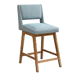 Lucy Aqua Upholerstered Stool