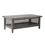 Cody Industrial Metal Mesh Storage Coffee Table