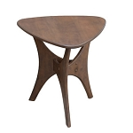 Blaze Triangle Wood End Table