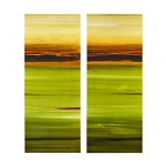Green Acres Abstract Gel Canvas Set of Two