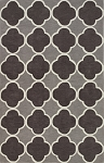 Infinity Charcoal Poly/Acrylic Plush and Loop Pile Rug