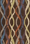Impulse Chocolate Ribbon Art Silk & Hand-tufted Wool pile Rug